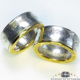 Partnerringe 5 Franken Silber